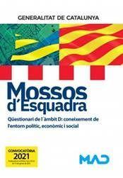 MOSSOS D'ESQUADRA - QÜESTIONARI DE L´ÀMBIT D (EDICIÓ 2021)