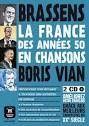FRANCE DES ANNÉES 50 EN CHANSONS, LA : COMIC + ACTIVIDADES + 2 CD