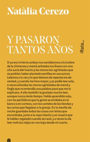 Y PASARON TANTOS AÑOS
