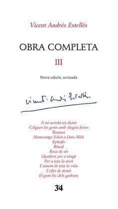 OBRA COMPLETA III (VICENT ANDRÉS ESTELLÉS)