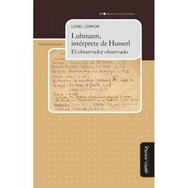 LUHMANN, INTÉRPRETE DE HUSSERL