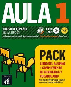 AULA 1 PACK LIBRO + COMPLEMENTO DE GRAMÁTICA Y VOCABULARIO
