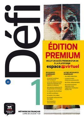 DÉFI 1 LIVRE DE L'ÉLÈVE + CD VERSION PREMIUM. A1