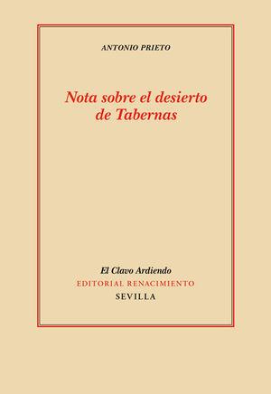NOTA SOBRE EL DESIERTO DE TABERNAS