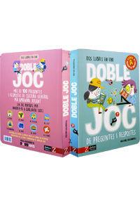 DOBLE JOC DE PREGUNTES I RESPOSTES - DOS LLIBRES EN UN - DE 9 A 99 ANYS