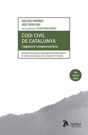 CODI CIVIL DE CATALUNYA I LEGISLACIÓ COMPLEMENTARIA (16 ED.)
