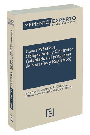 MEMENTO EXPERTO CASOS PRÁCTICOS OBLIGACIONES Y CONTRATOS. (ADAPTADOS AL PROGRAMA