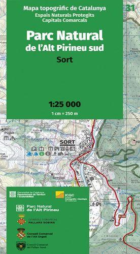 PARC NATURAL DE L'ALT PIRINEU SUD. SORT - 31 (1:25.000)