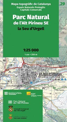 PARC NATURAL DE L'ALT PIRINEU SE. LA SEU D'URGELL - 29 (1:25.000)