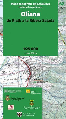 OLIANA - 62. DE RIALB A LA RIBERA SALADA (1:25.000)