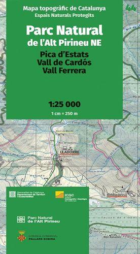 PARC NATURAL DE L'ALT PIRINEU NE – 44. PICA D'ESTATS – VALL DE CARDÓS – VALL FERRERA 1:25.000