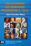 DICCIONARIO DE GRANDES FILOSOFOS 1 (A-J)