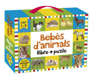 BEBÈS D'ANIMALS: LLIBRE + PUZLE 20 PECES