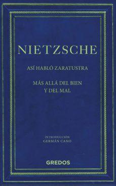 ASI HABLO ZARATUSTRA / MAS ALLA DEL BIEN Y DEL MAL