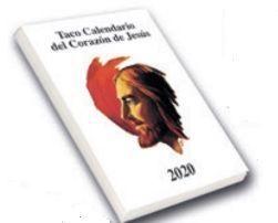 TACO CALENDARIO 2020 ( PEQUEÑO CON IMAN) DEL CORAZON DE JESUS