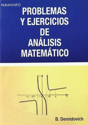 PROBLEMAS EJERCICIOS ANÁLISIS MATEMÁTICO