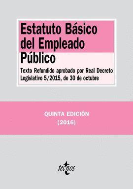 ESTATUTO BÁSICO DEL EMPLEADO PÚBLICO  (2016)
