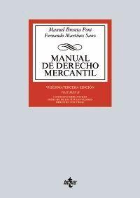 MANUAL DE DERECHO MERCANTIL. VOLUMEN II (23 EDICION 2016)