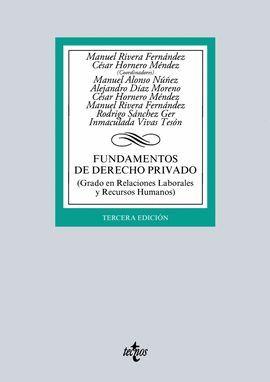 FUNDAMENTOS DE DERECHO PRIVADO (3 EDICION 2016)