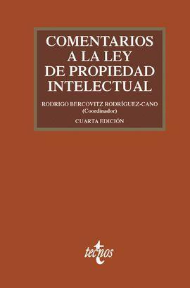 COMENTARIOS A LA LEY DE PROPIEDAD INTELECTUAL (4ª ED.)