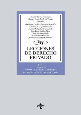 LECCIONES DE DERECHO PRIVADO-TOMO 1/VOL.1º