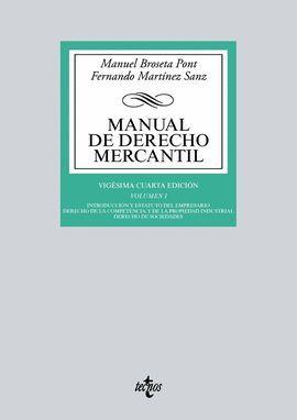 MANUAL DE DERECHO MERCANTIL. VOLUMEN I (24 EDICION 2017)
