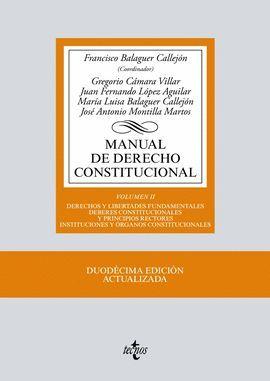 MANUAL DE DERECHO CONSTITUCIONAL. VOLUMEN II (12 EDICION 2017)