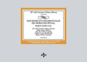 NOCIONES FUNDAMENTALES DE DERECHO PENAL. PARTE ESPECIAL. VOLUMEN 1 (3 EDICION 2018)