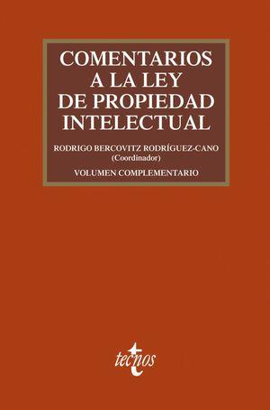 COMENTARIOS A LA LEY DE PROPIEDAD INTELECTUAL (4 EDICION 2019)