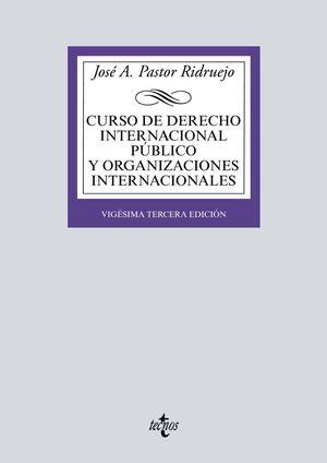 CURSO DE DERECHO INTERNACIONAL PÚBLICO Y  ORGANIZACIONES INTERNACIONALES (23 EDICION 2019)