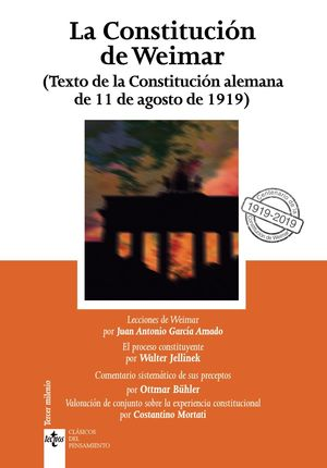 CONSTITUCIÓN DE WEIMAR, LA