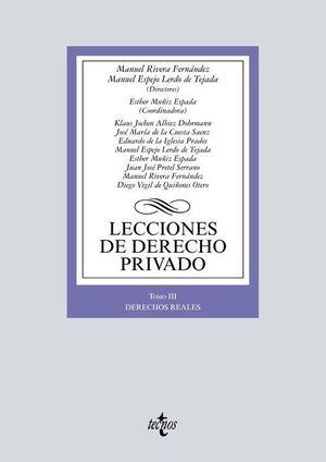 LECCIONES DE DERECHO PRIVADO - TOMO III - DERECHOS REALES