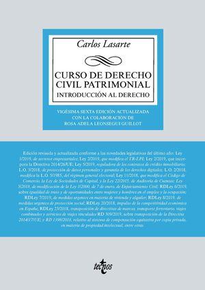 CURSO DE DERECHO CIVIL PATRIMONIAL (26 EDICION 2021)