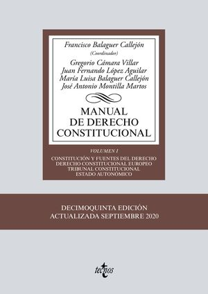 MANUAL DE DERECHO CONSTITUCIONAL (15 EDICIO 2020)