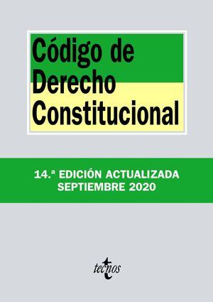CÓDIGO DE DERECHO CONSTITUCIONAL (14 EDICION ACTUALIZADA SEPTIEMBRE 2020)