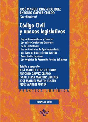 CÓDIGO CIVIL Y ANEXOS LEGISLATIVOS (8 EDICION 2020)