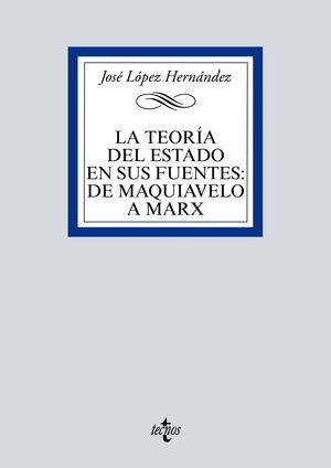TEORÍA DEL ESTADO EN SUS FUENTES: DE MAQUIAVELO A MARX, LA