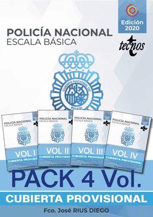 PACK TEMARIO OPOSICIÓN ESCALA BÁSICA POLICÍA NACIONAL (4 VOLS)