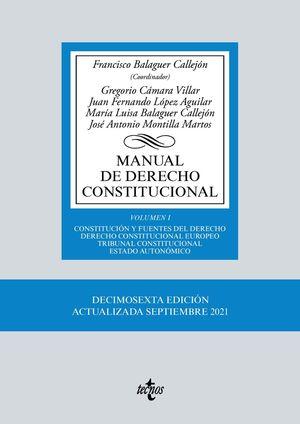 MANUAL DE DERECHO CONSTITUCIONAL (16 EDICION 2021)