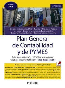 PLAN GENERAL DE CONTABILIDAD Y DE PYMES (12ª EDICIÓN - ACTUALIZADA 2018)