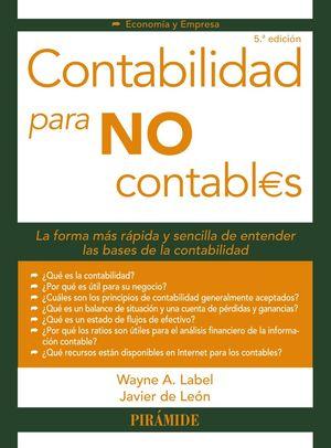 CONTABILIDAD PARA NO CONTABLES (5 EDICION 2019)