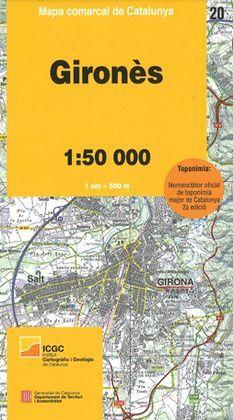 GIRONÈS - 20 MAPA COMARCAL DE CATALUNYA (1:50.000)
