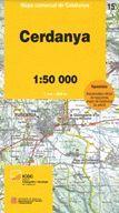 CERDANYA - 15 MAPA COMARCAL DE CATALUNYA 1:50.000