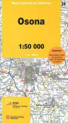 OSONA - 24. MAPA COMARCAL DE CATALUNYA (1:50.000)