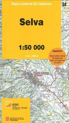 SELVA - 34 MAPA COMARCAL DE CATALUNYA (1:50.000)