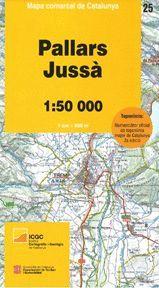 PALLARS JUSSÀ - 25 (1:50.000) MAPA COMARCAL DE CATALUNYA