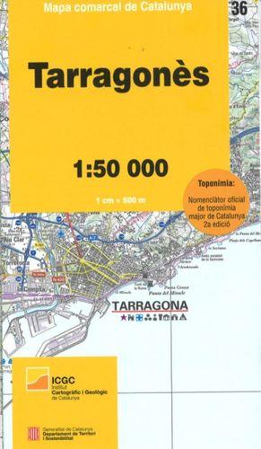 TARRAGONÈS – 36. MAPA COMARCAL DE CATALUNYA (1:50.000)
