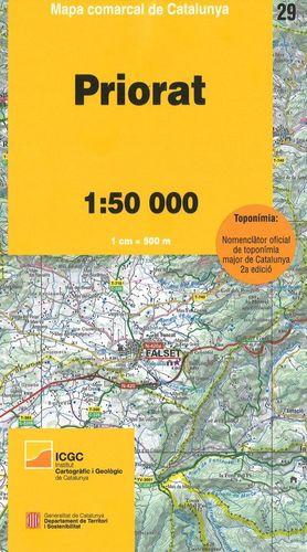 PRIORAT - 29. MAPA COMARCAL DE CATALUNYA (: 1:50.000)