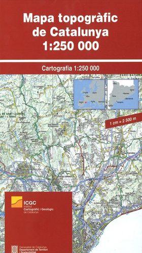 MAPA TOPOGRÀFIC DE CATALUNYA 1:250.000