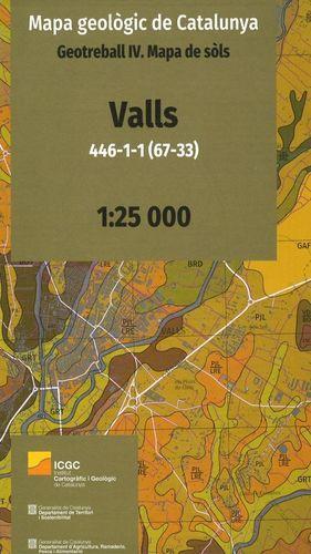 VALLS 446-1-1 (67-33) MAPA GEOLÒGIC DE CATALUNYA. GEOTREBALL IV. MAPA DE SÒLS